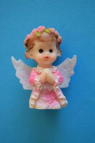 Obrazek Aniołek z pudełkiem, kolor różowy