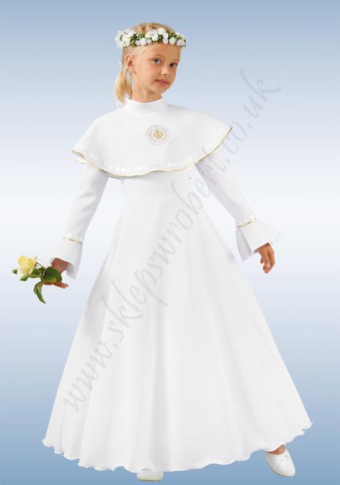 Obrazek 11. Alba sukieneczkowa - złota tasiemka