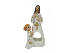 Picture of Figurka Pan Jezus z dziewczynką